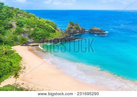 Fernando De Noronha, Brazil. Paradise Beach In South America.