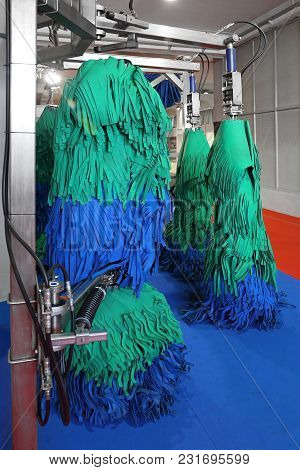 Automatic Car Wash Hydraulic Rotating Mop Brushes