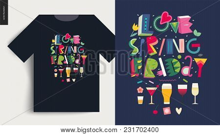 Love Spring Friday - Lettering Composition And T-shirt Template Usage Example