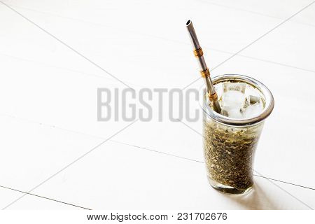 Terere. Frozen Yerba Mate Drink For Hot Days
