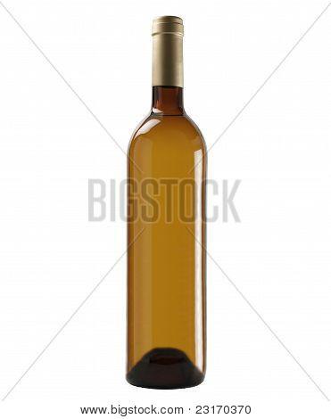 Brown Bottle Of White Wine