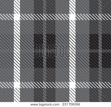 Pattern Cell Tissue. Fabric Texture Vector. Plaid Fabric. Warm Pattern, Ornament. Checkered British