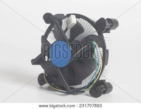Computer Fan Cpu Processor Cooler Isolated On A White  Background