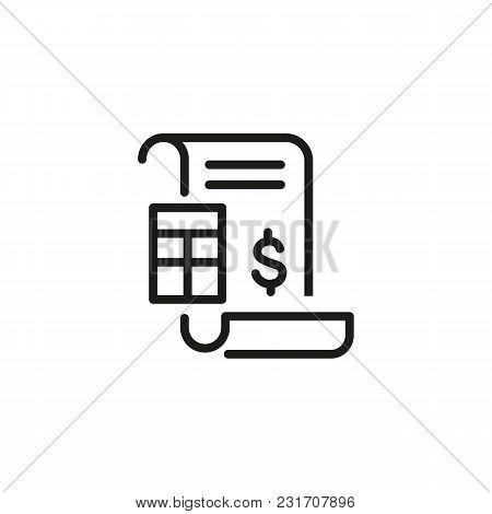 Financial Document Vector Photo Free Trial Bigstock - Invoice finance calculator
