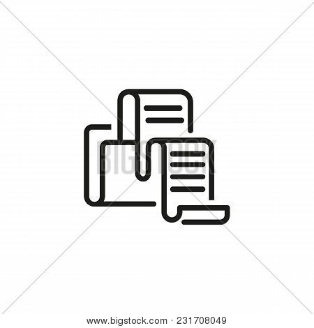 Folder Print Line Icon. Document, Copy, Storage. Data Storage Concept. Can Be Used For Topics Like D
