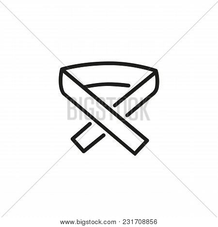 Icon Of Martial Art Belt. Rank, Clothing, Athlete. Uniform Concept. Can Be Used For Topics Like Spor