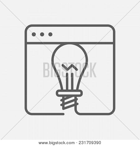 Project Icon Line Symbol. Isolated  Illustration Of  Icon Sign Concept For Your Web Site Mobile App