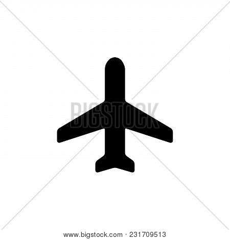 Airplane Icon Isolated On White Background. Airplane Icon Modern Symbol For Graphic And Web Design.