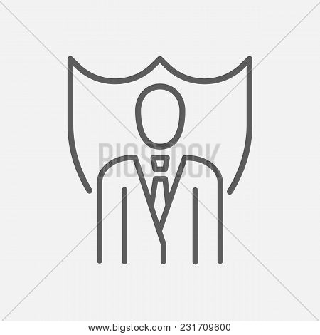 Lawyer Icon Line Symbol. Isolated  Illustration Of  Icon Sign Concept For Your Web Site Mobile App L