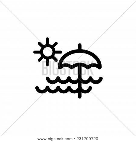 Beach Day Icon Isolated On White Background. Beach Day Icon Modern Symbol For Graphic And Web Design