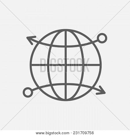 Cdn Icon Line Symbol. Isolated  Illustration Of  Icon Sign Concept For Your Web Site Mobile App Logo