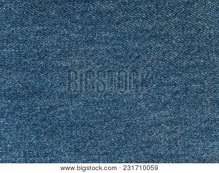 Medium Blue Washed Denim Fabric Texture Swatch