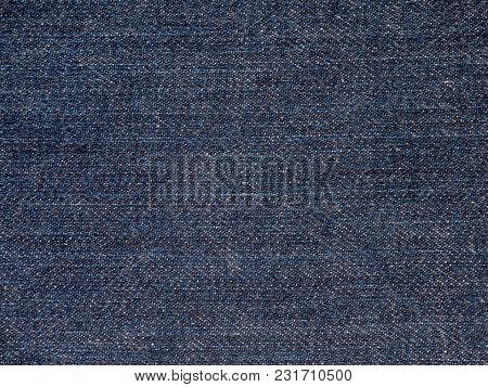 Dark Blue Washed Denim Fabric Texture Swatch