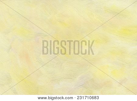 Big Overlapping Brushstrokes Of Oil Painting Texture For Background. Spring Sunny Sky. Morning Palet