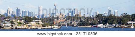 Sydney Skyline Seen From The Parramatta River
