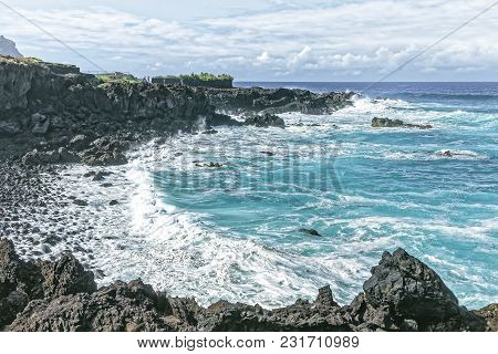 Tenerife - Cliffs And Waves Breakers Near Buenavista Del Norte