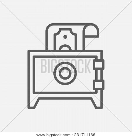 Deposit Icon Line Symbol. Isolated Vector Illustration Of Safe Sign Concept For Your Web Site Mobile