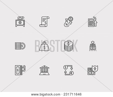 Money Payment Icons Set With Online Bank, Payment Secure And Debit. Set Of Money Payment Icons Also