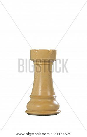 Wooden Chess: Rook (white)