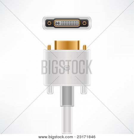White Display Connector