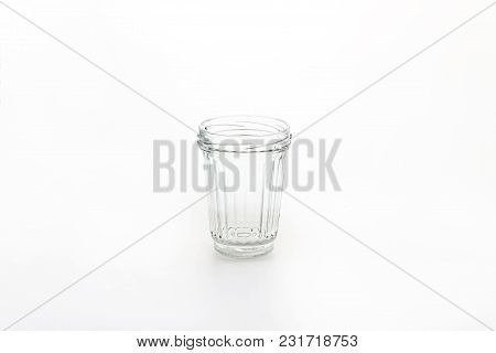 A Glass Jar Isolated On White Background