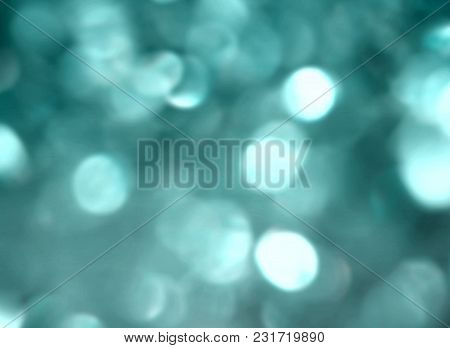 Turquoise Blue Bokeh Beautiful Festive Glittery Magic Design Background
