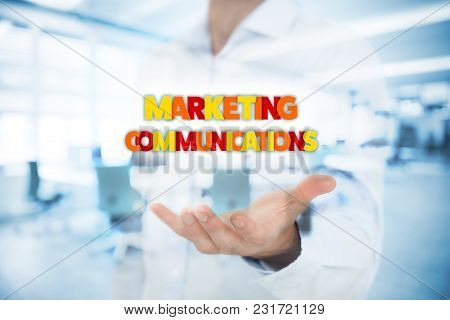 Marketing Specialist With The Marketing Communications Text.