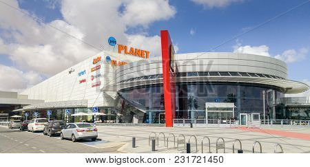 Beer-sheva, Israel - March 16, 2018: Scenic View Of Ispro Planet Mega-mall