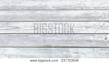 Vintage Light Faded Nature Rustic Wooden Texture. Grunge Old Solid Wood Shabby Peeling White Paint I