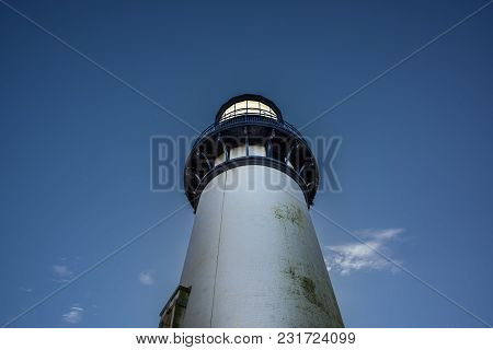 Yaquina Head Lighthouse, Built In 1872, 93 Feet Tall On The Oregon Coast.
