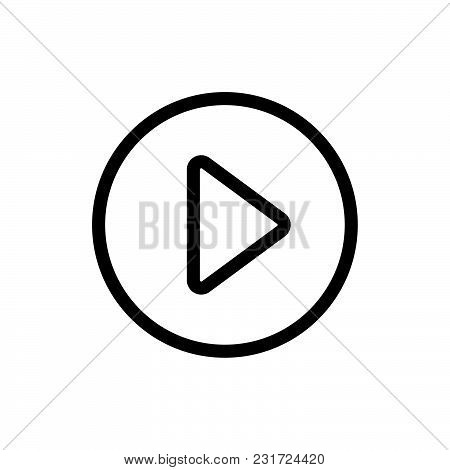 Play Button Icon Isolated On White Background. Play Button Icon Modern Symbol For Graphic And Web De
