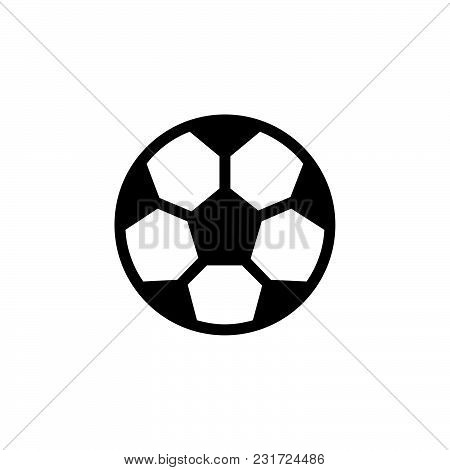 Soccer Ball Icon Isolated On White Background. Soccer Ball Icon Modern Symbol For Graphic And Web De
