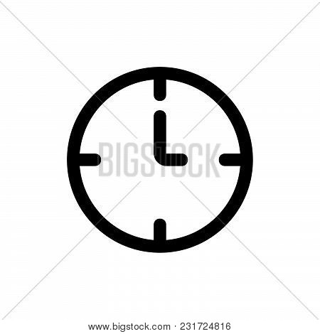 Time Icon Isolated On White Background. Time Icon Modern Symbol For Graphic And Web Design. Time Ico