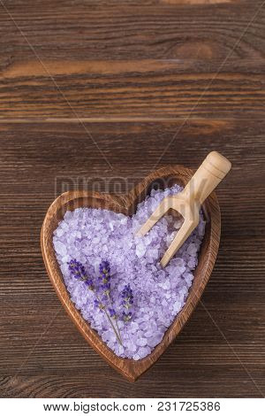Bath Herbs Salt With Lavender, Spa Concept, Toned