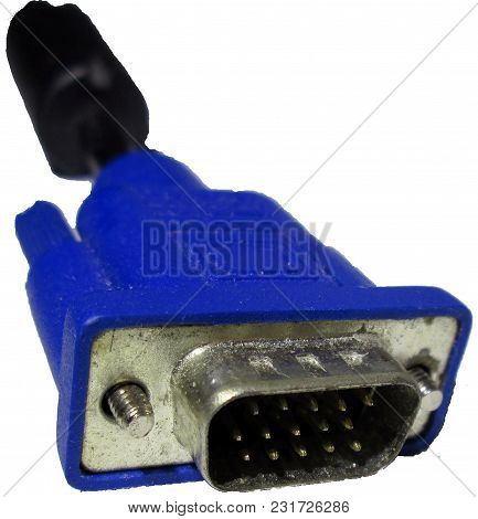 Steel Metal Iron Glitters Thread Blue Black Plastic Vga Cable Wire Interface Cord Digital Electronic