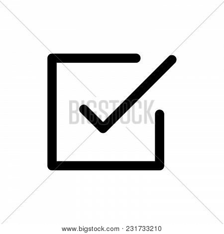 Check Box Icon Isolated On White Background. Check Box Icon Modern Symbol For Graphic And Web Design