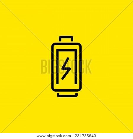 Icon Of Charging Battery. Gadget, Loading, Power. Energy Concept. Can Be Used For Topics Like Techno
