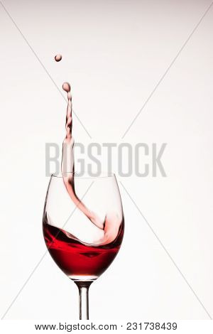 High Splash Of Red Wine Looks Like A Very Popular Alcoholic Drink All Over The World