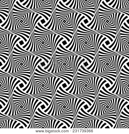 Seamless Pattern. Abstract Lines Texture. Vector Illustration.