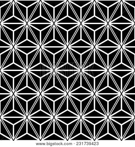Seamless Triangles And Diamonds Pattern. Geometric Texture. Vector Art.
