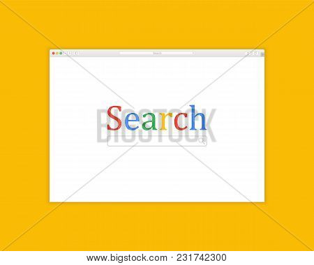 Browser Window Vector Illustration. Web Browser Concept. Internet Image, Mockup. Screen Design
