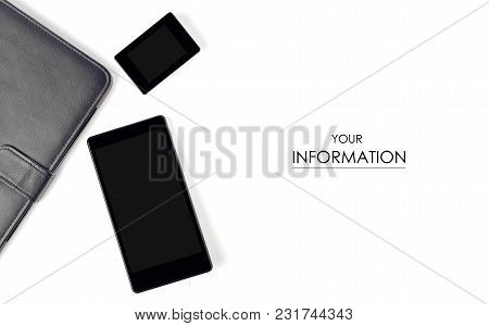 The Mobile Phone Tablet Mp3 Pattern On A White Background Isolation