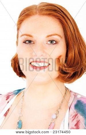 Portrait of a reddish-blond woman