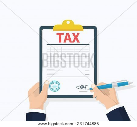 Tax Payment. Government, State Taxes. Payment Of Debt. Data Analysis, Paperwork, Financial Research,