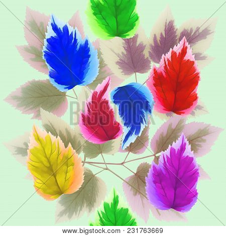 Maple Leaf . Texture Of Flowers. Seamless Pattern For Continuous Replicate. Floral Background, Photo