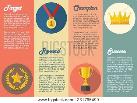 Achievements Icon Concept Infographic. Vector Illustration Graphic Design