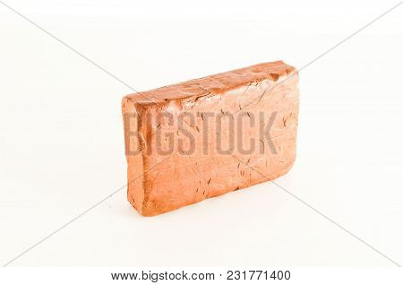 Photo Picture Of Brown Plasticine Loaf Textured Background