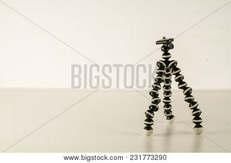 Mini Table Flexible Tripod On White Background