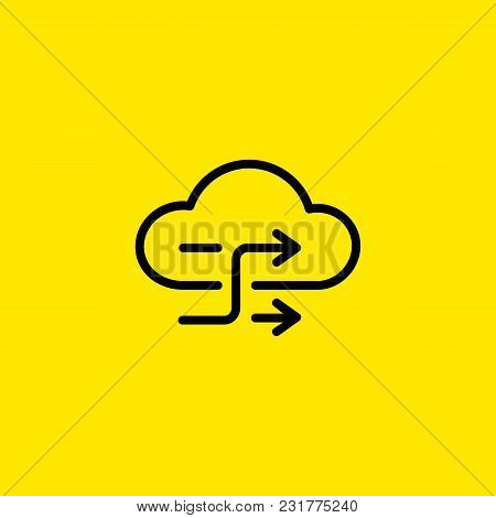 Icon Of Cloud Exchange With Arrows. Backup, Data, Synchronization. Data Exchange Concept. Can Be Use