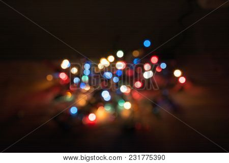 Background With Natural Bokeh And Multi Color Lights